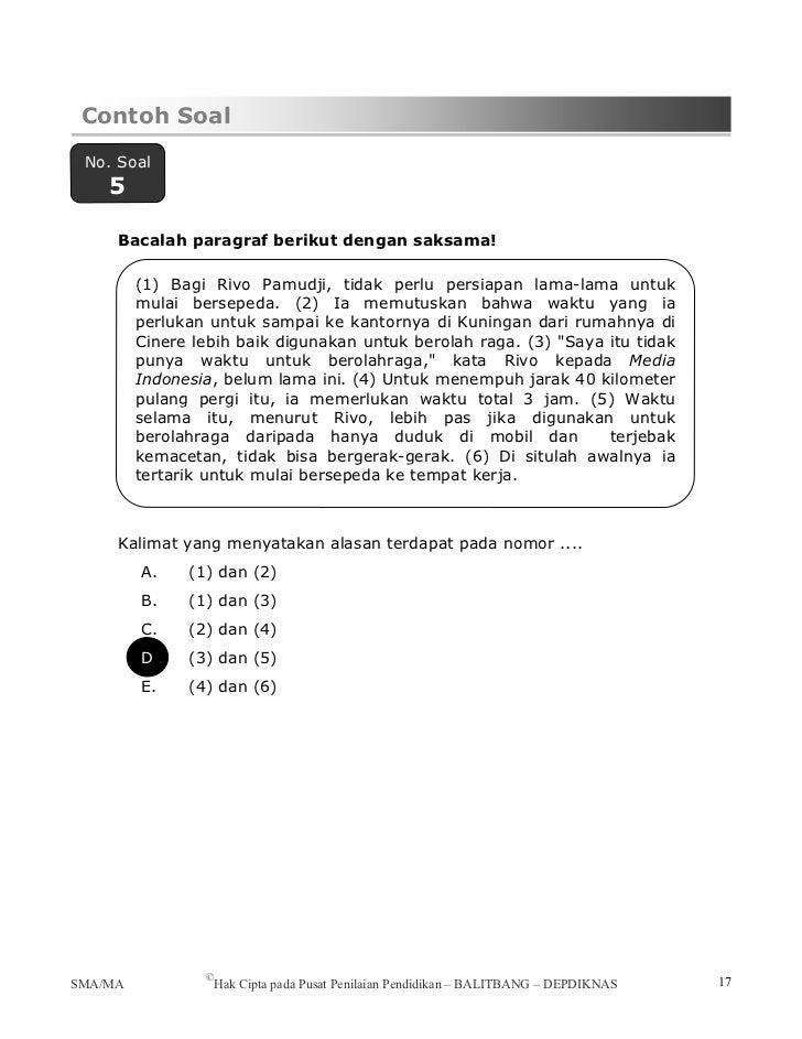Pendalaman materi bahasa of Contoh soal uraian teks eksposisi