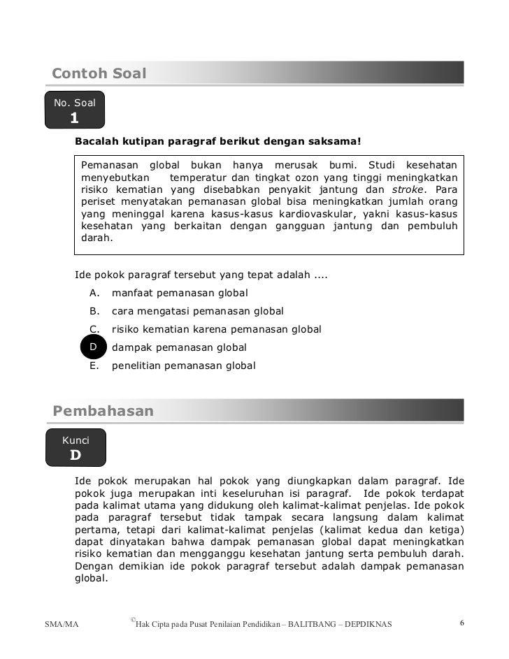 Pendalaman materi bahasa of Contoh soal teks eksposisi rumpang