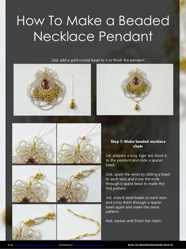 How to make a beaded necklace with pendant 8 blog diy beading aloadofball Image collections