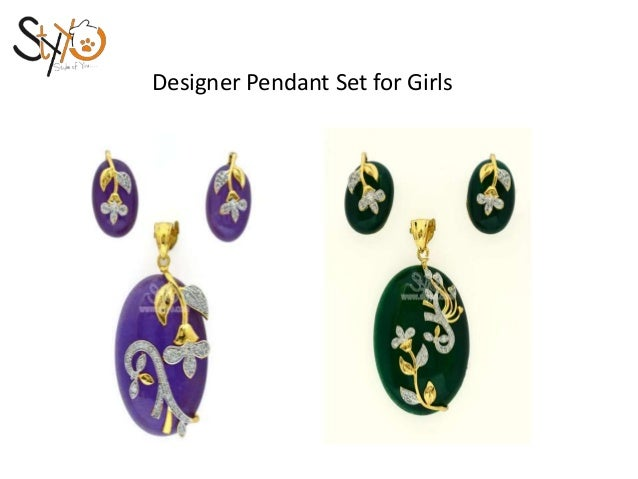 New collection fo designer pendant set online for girls 3 designer pendant mozeypictures Gallery