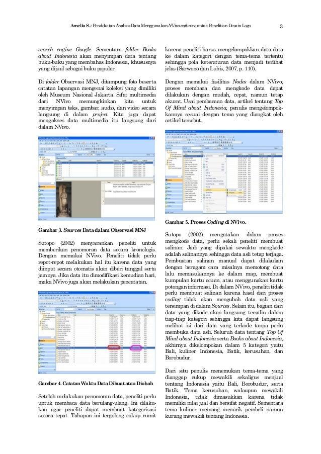 Pendekatan Analisis Data Menggunakan  Nvivo Slide 3