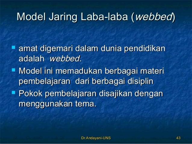 Dr.Andayani-UNSDr.Andayani-UNS 4343 Model Jaring Laba-laba (Model Jaring Laba-laba (webbedwebbed))  amat digemari dalam d...