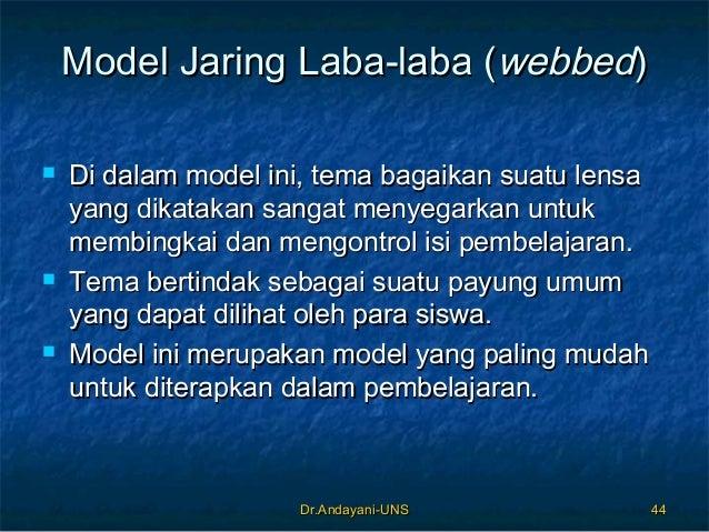Dr.Andayani-UNSDr.Andayani-UNS 4444 Model Jaring Laba-laba (Model Jaring Laba-laba (webbedwebbed))  Di dalam model ini, t...