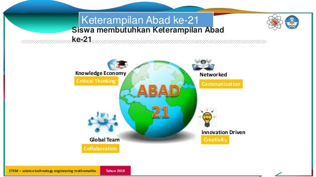 STEM – science technology engineering mathemathic Tahun 2019 Knowledge Economy Networked Global Team Innovation Driven Cri...