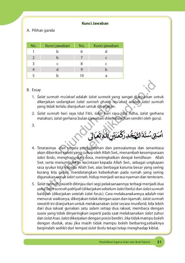 Kunci Jawaban Agama Kelas 8 Halaman 127 Sampai 130 Semester 2