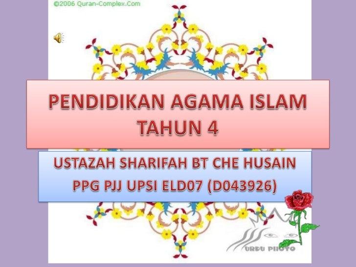 Pendidikan Agama Islam Tahun 4