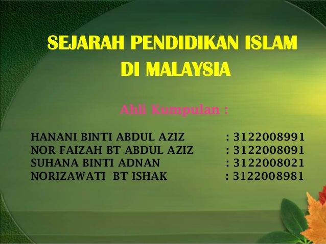 Pendidikan Islam Di Malaysia