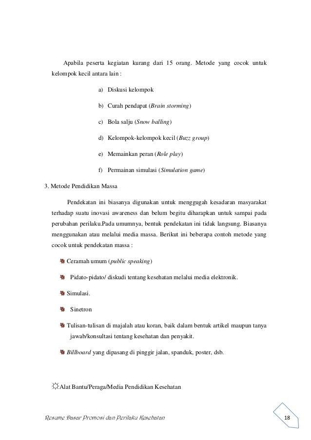 pendidikan kesehatan dan ilmu perilaku resume