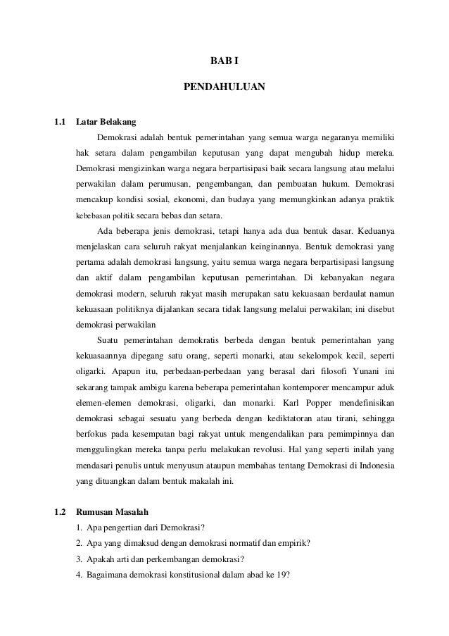 Pendidikan Kewarganegaraan Demokrasi Indonesia