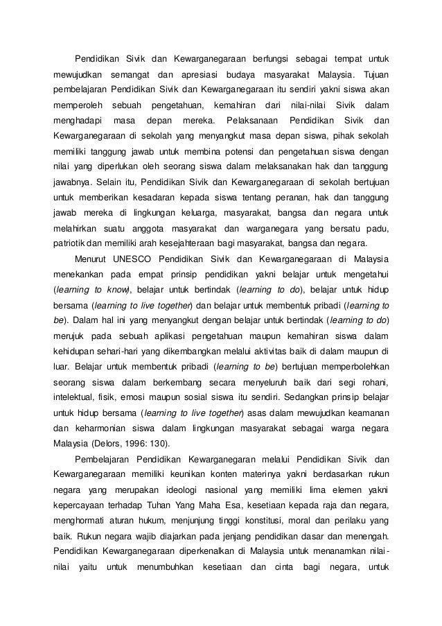 Pendidikan Kewarganegaraan Di Malaysia