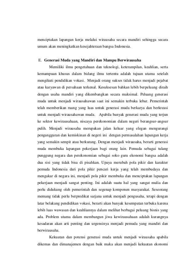 essay tentang pendidikan vokasi di indonesia