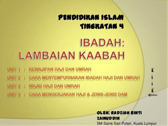 PENDIDIKAN ISLAM     TINGKATAN 4                                        K                                        L        ...