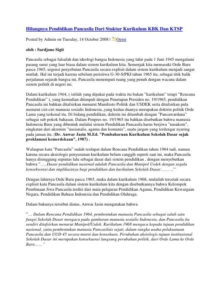 "HYPERLINK ""http://sayidiman.suryohadiprojo.com/?p=1294"" o ""Permanent Link to Hilangnya Pendidikan Pancasila Dari Stuktur ..."