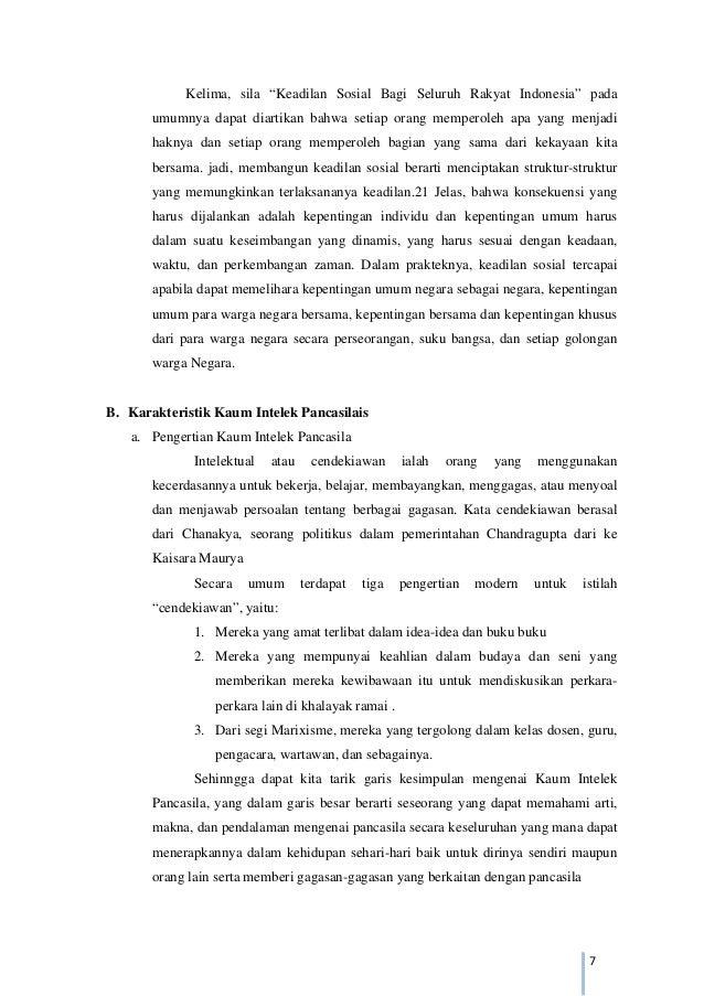 Tugas Pendidikan Pancasila Semangat Nasionalis Kaum Intelek Pancasila