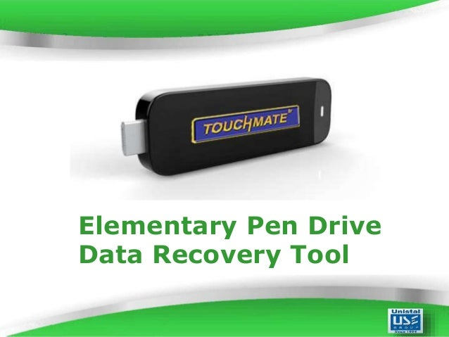 Elementary Pen Drive Data Recovery Tool Powerpoint Templates  Page 1