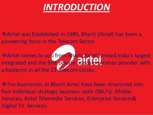 BHARTI AIRTEL COMPANY PROFILE DOWNLOAD