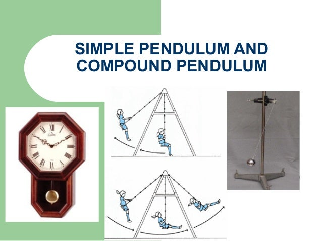 compound pendulum Using a sensor based digital stop clock and a bar pendulum variation of period (t) with point of suspension is studied and radius of gyration (k) and acceler.