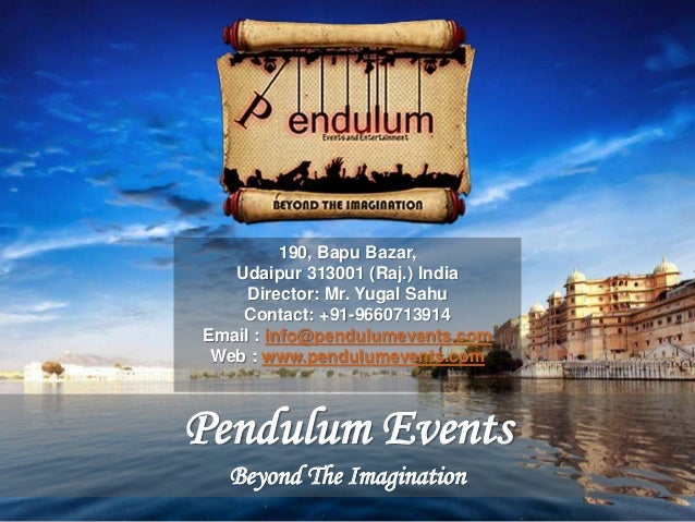 Event Management and Wedding Planner Company in Udaipur,India- Pendul…