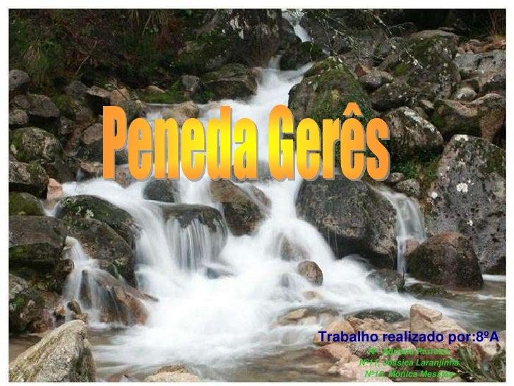 Peneda Gerês <br />Trabalho realizado por:8ºA<br />Nº, Adriana Parreira<br />Nº11, Jéssica Laranjinha<br />Nº15, Mónica Me...