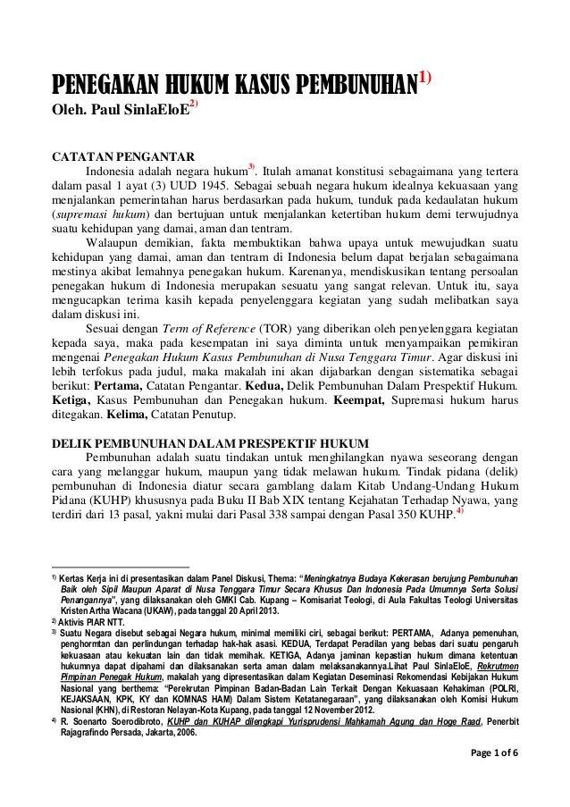 """makalah pembunuhan Untuk itulah kami menyusun makalah yang berjudul """"kasus pembunuhan angeline"""", untuk memberikan informasi tentang apa itu pelanggaran ham."""