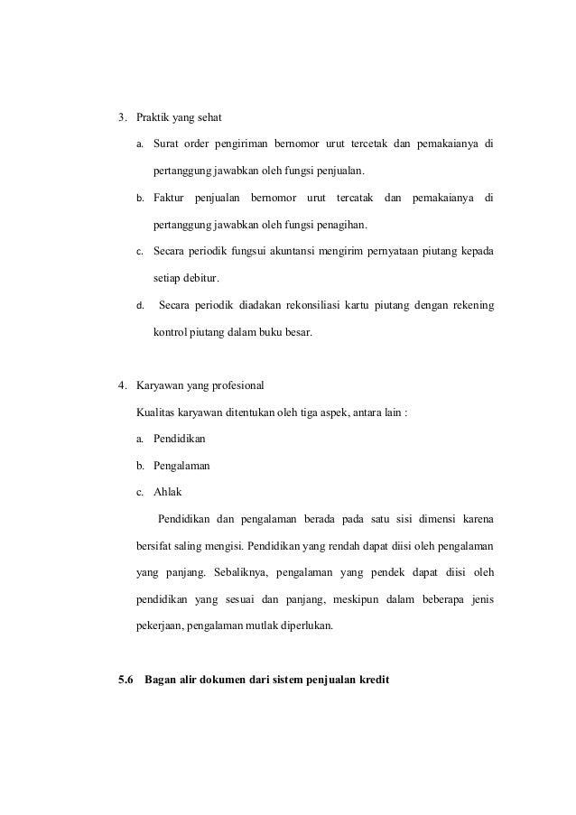 Penerapan Sistem Akuntansi Penjualan Kredit