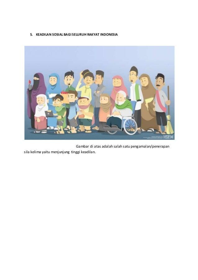 Mirzan Blog S 35 Ide Contoh Gambar Penerapan Sila Ke 5 Pancasila Kartun
