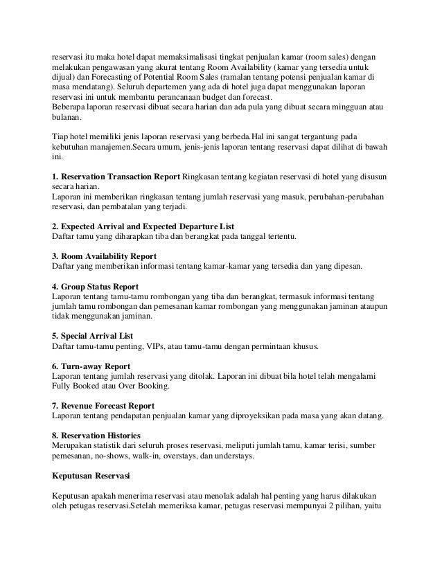 contoh lengkap surat pemesanan hotel dalam bahasa inggris