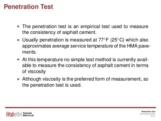Penetration test procedure