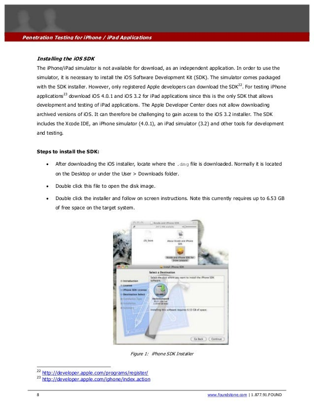 Penetration testing of i phone-ipad applications