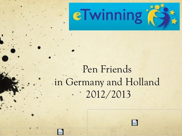 Pen Friends in Germany and Holland 2012/2013