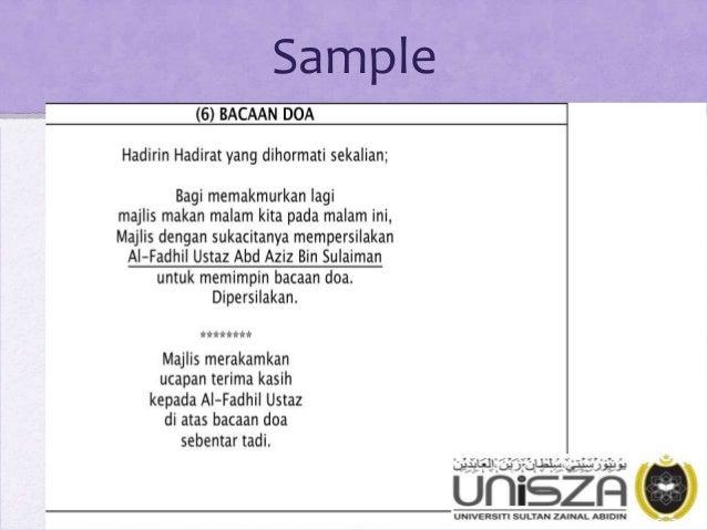 Pengacaraan Majlis (Emceeing for Official Function In ...