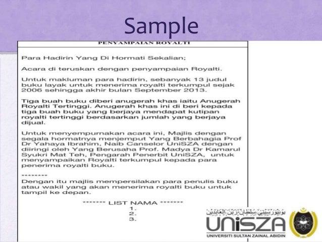 Pengacaraan Majlis Emceeing For Official Function In Malaysia Contex