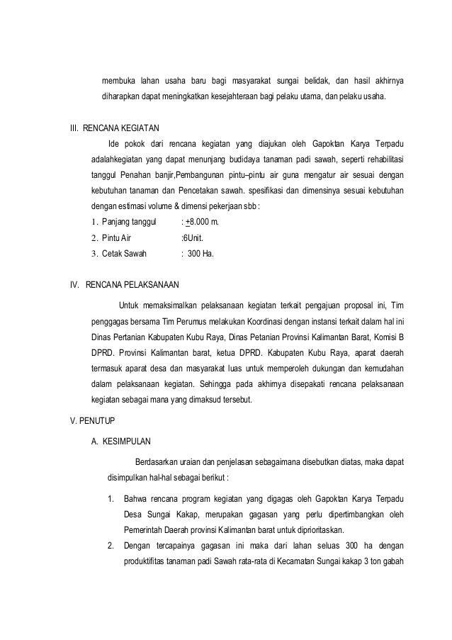 Proposal Pengajuan Pintu Air