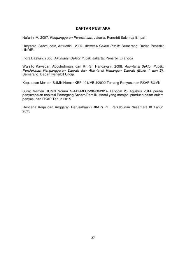 Penerapan Keputusan Menteri Bumn Nomor Kep 101 Mbu 2002 Dan Surat Men