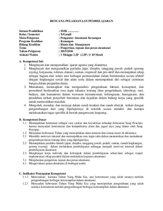 Silabus Akuntansi Smk Kurikulum 2013 Revisi 2016 Ilmusosial Id