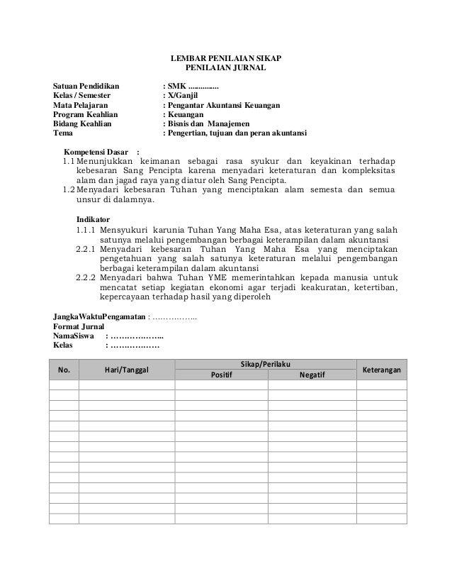 Rpp Smk Pengantar Akuntansi Keuangan Kelas X