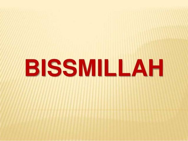 BISSMILLAH