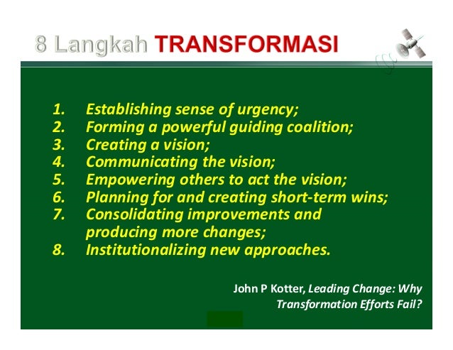 leading change why transformation efforts fail