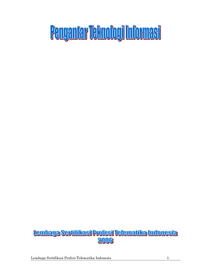 Lembaga Sertifikasi Profesi Telematika Indonesia   1