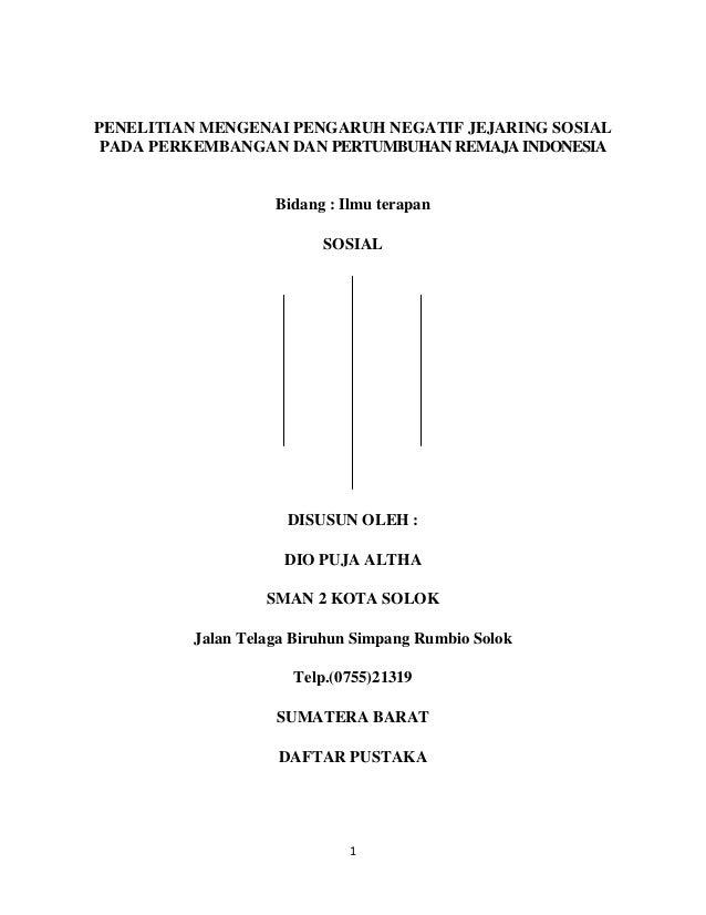 contoh proposal judul pengaruh penggunaan gadget terhadap hasil pembelajaran siswa