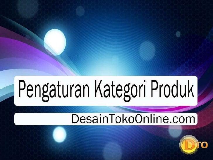 Pengaturan kategori produk