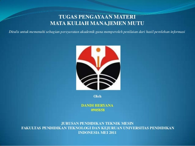 TUGAS PENGAYAAN MATERI                         MATA KULIAH MANAJEMEN MUTUDitulis untuk memenuhi sebagian persyaratan akade...