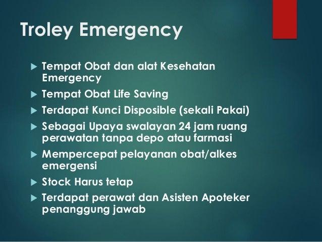 Troley Emergency  Tempat Obat dan alat Kesehatan Emergency  Tempat Obat Life Saving  Terdapat Kunci Disposible (sekali ...