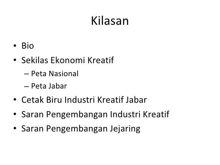 Pengembangan industri kreatif Slide 2