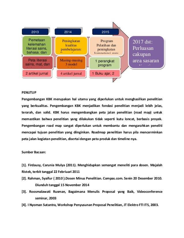 Pengembangan kbk dan_roadmap_penelitian