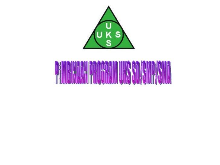 PEMBINAAN PROGRAM UKS SD/SMP/SMA