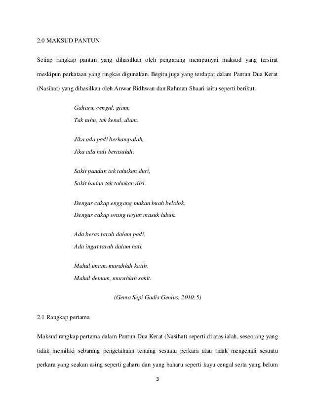 Pantun Agama Stpm Pantun 40 Kerat Nasihat Tingkatan 40 Bradervadoce 1021