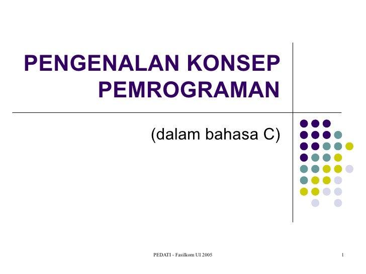 Pengenalan konsep pemrograman