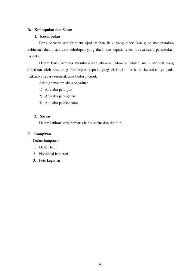 Contoh Kesimpulan Dan Saran Dalam Laporan Kkn Kumpulan Contoh Laporan