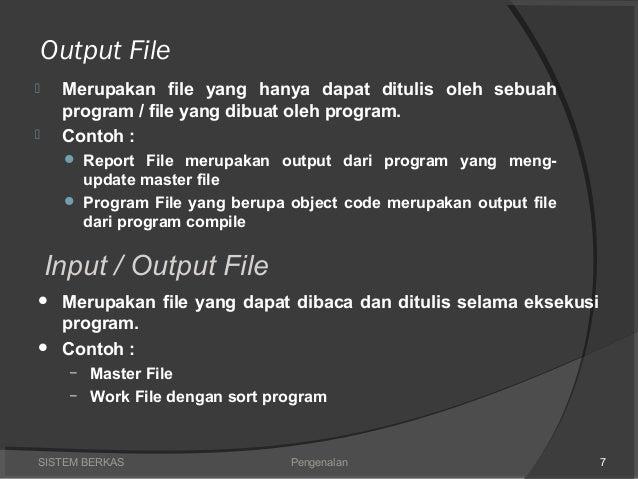 Input dan output sistem berkas